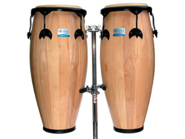 The congas feature an 'earth-safe' hardwood shell construction