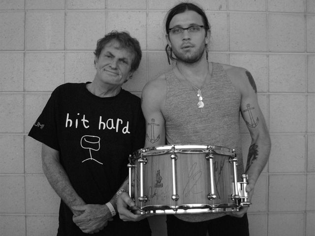 KOL's Nathan Followill with the Brady snare