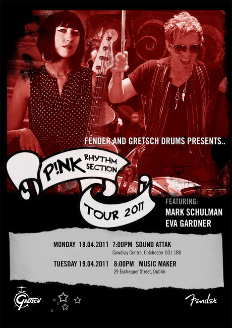 Pink's rhythm section tour poster