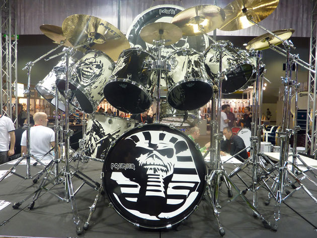 Nicko's McBrain's custom Premier Elite kit in pictures