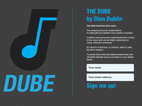 Dion Dublin launches The Dube percussion instrument