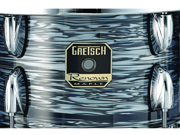 Six-ply all-maple shells feature rounded 30-degree bearing edges for greater head contact and warm tones.