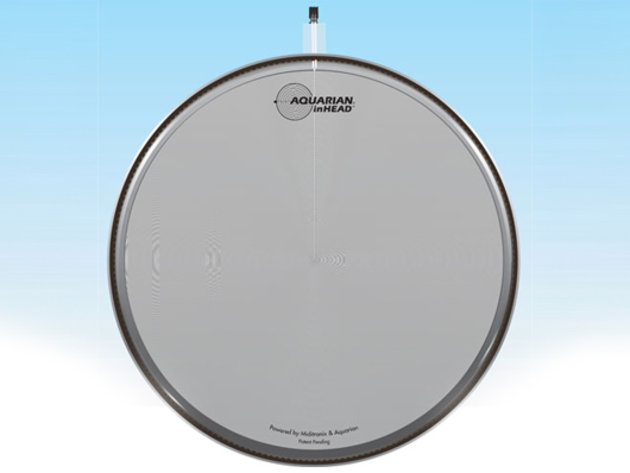 aquarian and miditronix unveils inhead acoustic electronic trigger drum heads drum news. Black Bedroom Furniture Sets. Home Design Ideas