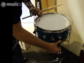 NAMM 2011 VIDEO: Natal snare drum adjustable throw demo