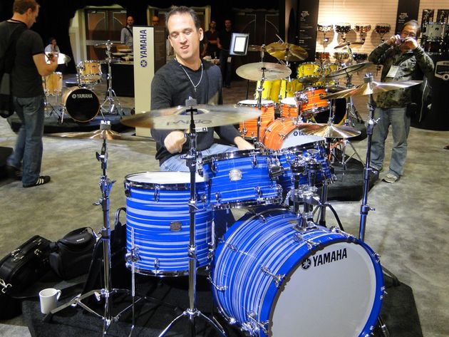 Kenny Chesney drummer Sean Paddock rocks Yamaha's Club Custom kit