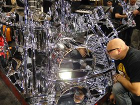 NAMM 2012 VIDEO: Gretsch Drums custom chrome set