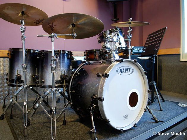 Mapex Meridian Maple Galaxy Burst in one of Drumtech's Practice Rooms