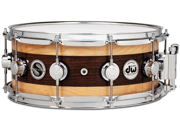 DW Super Solid Edge snare in Walnut with natural laquer ($1499-$1699)
