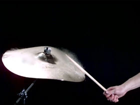 VIDEO: slow motion cymbal strike at 1000 frames per second
