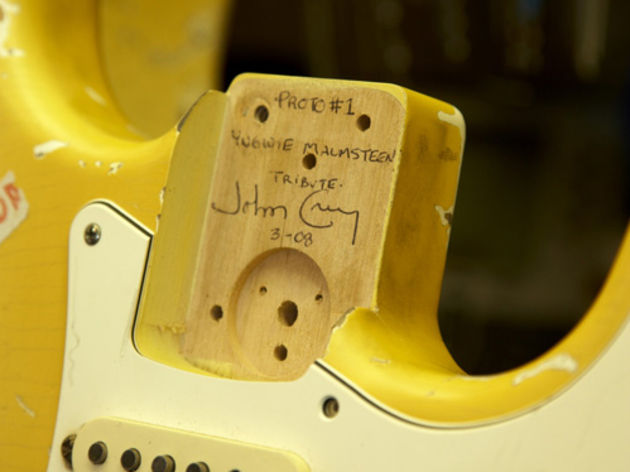 A prototype of Fender's Yngwie Malmsteen Tribute Strat