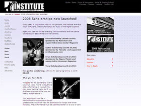 The Institute launches 2008 guitar scholarships
