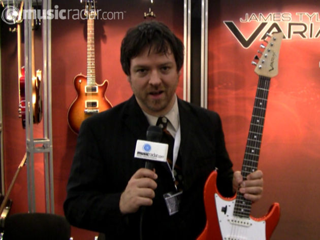 Line 6's Darrell Smith and one of the new Tyler Variax guitars