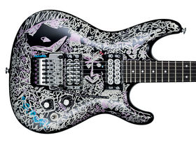 Ibanez recreates Joe Satriani's 'Black Dog' guitar