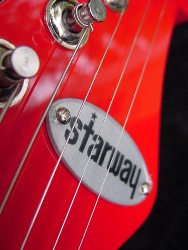 The reproduction Starway headstock logo