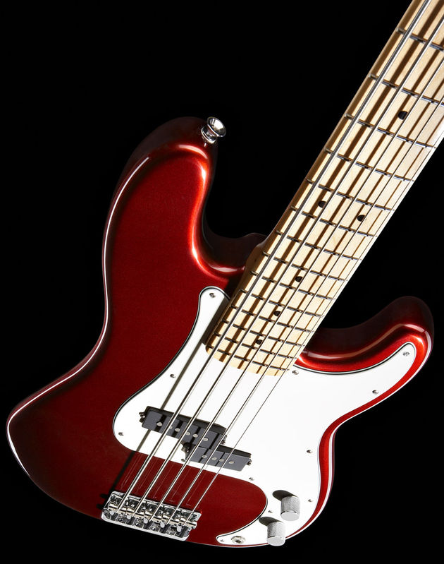 The new Fender American Standard 5-string Precision in Candy Cola