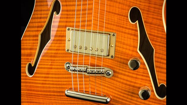 The Fender humbucker gives the Hollow-Body Tele a Thinline-style tone