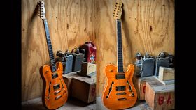 NAMM 2014 : Fender Custom Shop présente la Telecaster Hollow-Body Faded Tennessee Orange