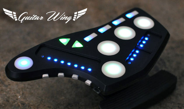 The Guitar Wing can be used to control MIDI effects, apps and DAWs