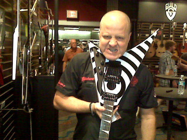 Nick Bowcott loves the Jackson RR5FR Rhoads