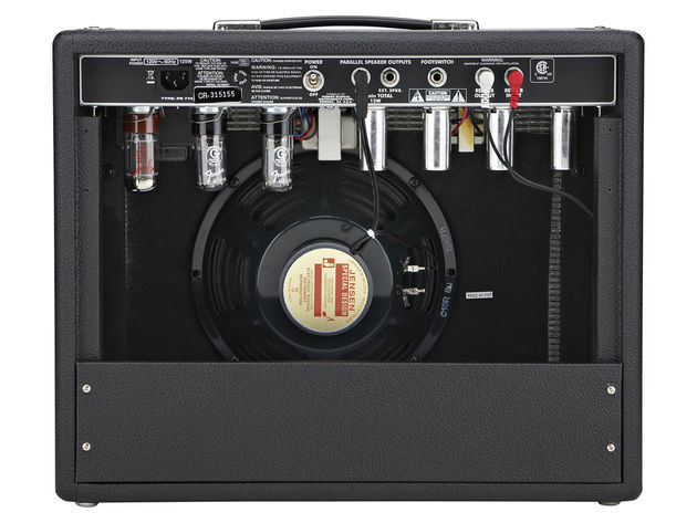 The '65 Princeton Reverb's rear panel features a footswitch jack and external speaker output