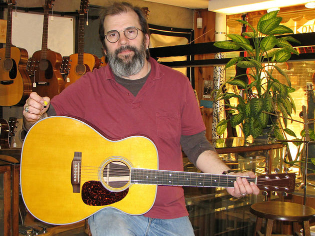 Rick Rubin? No - it's Steve Earle and his signature Martin