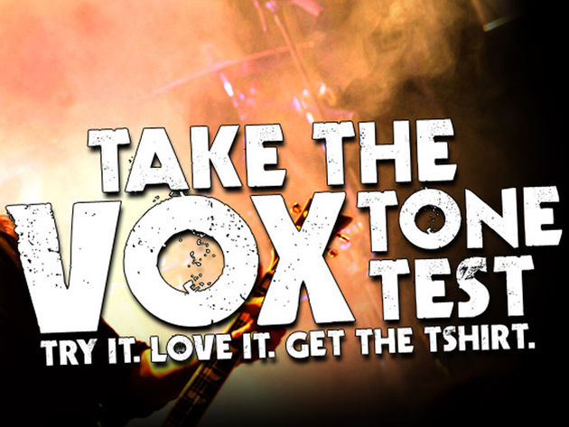 Get yourself a free t-shirt in exchange for trying a Vox amp.