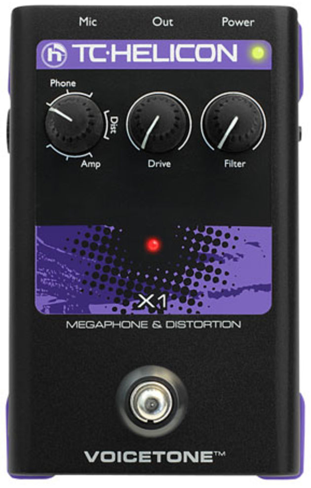 TC-Helicon VoiceTone X1 pedal