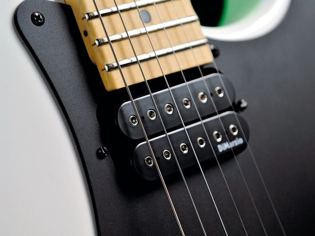 The So-Cal's twin DiMarzio humbuckers are perfect for high-octane rock tone.