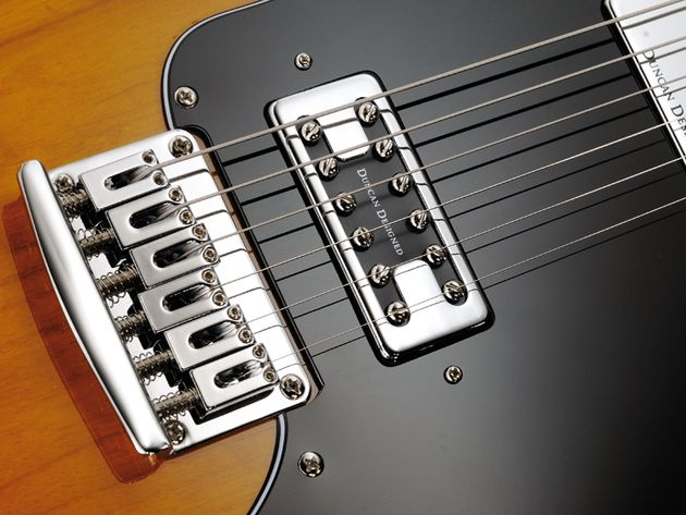 The Duncan Designed FG-101 bridge humbucker is very Grestch-y in tone.