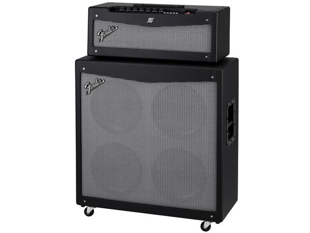 Fender Mustang V head and 412 cab