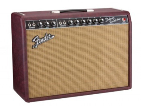 Fender 65 deluxe reverb fsr in red wine