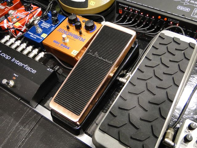 The new Dunlop Joe Bonamassa Cry Baby wah (center)