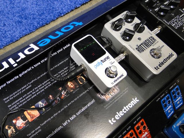 The PolyTune Mini won't crowd your other pedals in
