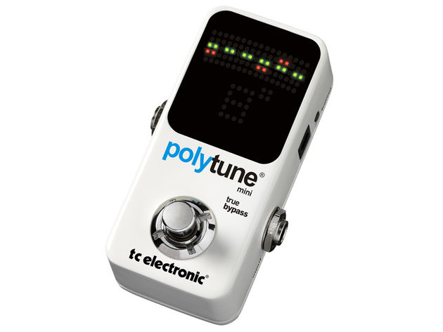 The TC Electronic PolyTune Mini measures just 93mm in length.