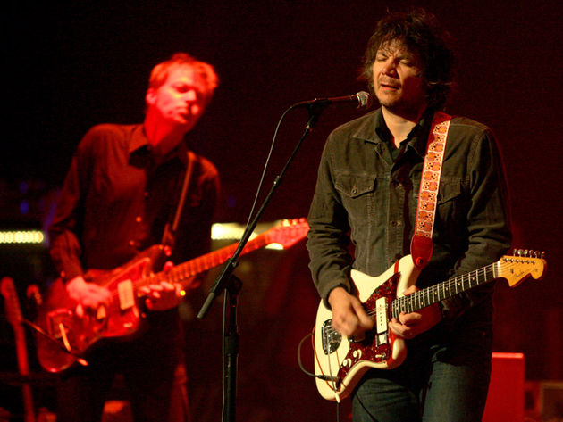 Nels Cline and Jeff Tweedy of Chicago-based alt-rock band Wilco (© Kelly A. Swift/Retna Ltd./Corbis)