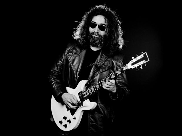 Jerry Garcia of The Grateful Dead with a Travis Bean TB1000A Artist electric guitar in 1981