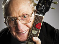 Today's Google logo is an interactive guitar for Les Paul's birthday