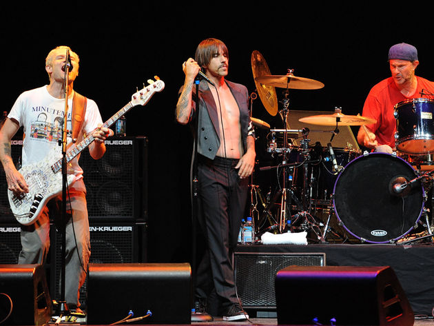 From L-R: Flea, Anthony Kiedis and Chad Smith in LA, 2009
