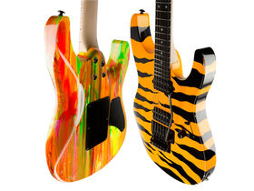 Suhr unveils 80s Shred model - mad paintjobs!
