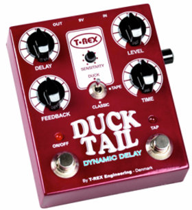 T-Rex duck tail delay effects pedal