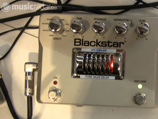 The new Blackstar HT-Delay pedal in action