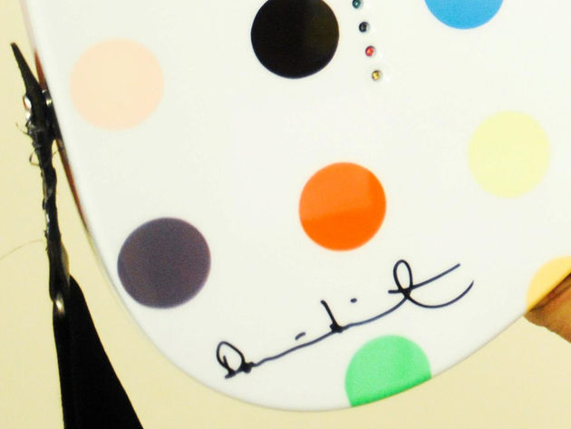 A closer look at Damien Hirst's signature