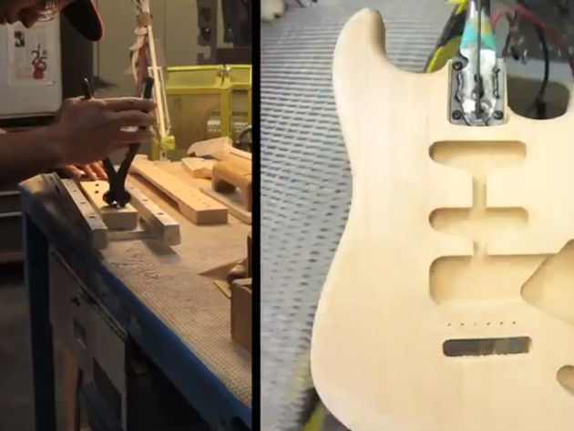 Four minutes to build a Strat? Well, not really...