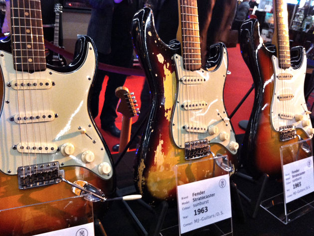 1960s sunburst Fender Stratocasters