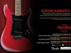 Hard rock cafe guitar amnesty