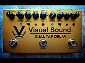 VIDEO: Visual Sound Dual Tap Delay pedal arrives in UK