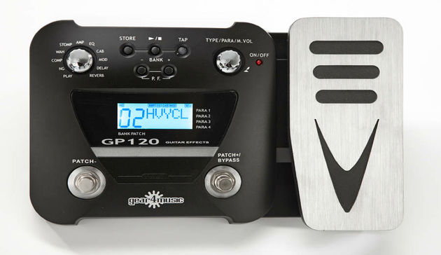 Gear4music GP120 Guitar Multi FX Pedal