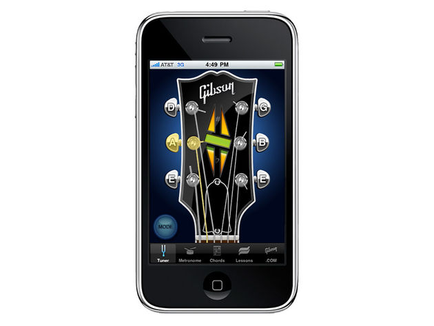Gibson's free iPhone app in tuner mode.