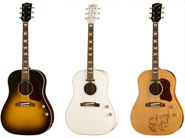 The 70th Anniversary John Lennon Imagine Model,  the 70th Anniversary John Lennon J-160VS and the 70th Anniversary John Lennon Museum J-160E Model.
