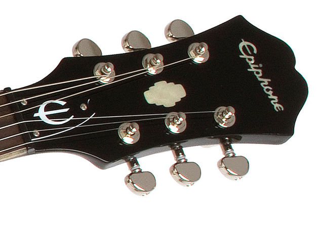 Epiphone Black Royale Dot (headstock)